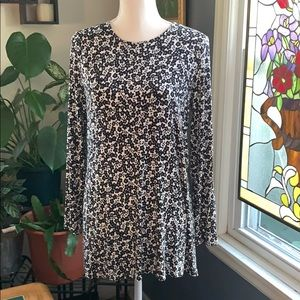 J Jill long sleeve top with back tie detail.
